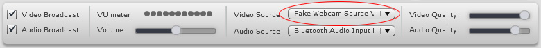 Ustreamtv Webcam: 3 - Just select 'Webcam Simulator Source V6.3' from the dropdown list.